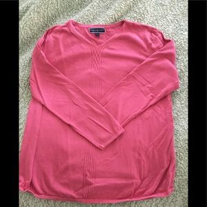 Karen Scott pink sweater XL